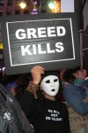 Greed kills! Occupy Wall Street, October 2011. Photo by Len T.
