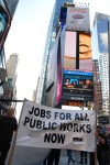 Jobs for public works. Occupy Wall Street, October 2011. Photo by Len T.
