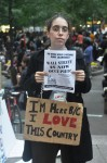 Here because I love this country. Occupy Wall Street, October 2011. Photo by Len T.
