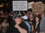 Michael Moore joins the 99%. Occupy Wall Street, October 2011. Photo by Len T.