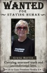Greta Berlin, Audacity of Hope passenger, wanted by Congress for staying human.