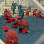 Detainees at Guantanamo Bay in 2002