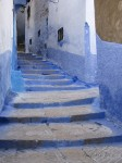 Blue walkway in Chechaouene.