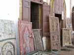 Painted doors sold to collectors in the coastal city of Rabat.