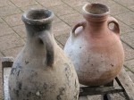 Large water pots in the coastal town of Rabat.