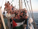 Passengers Aboard the Freedom Flotilla, The Estelle, one day out from Gaza shores!