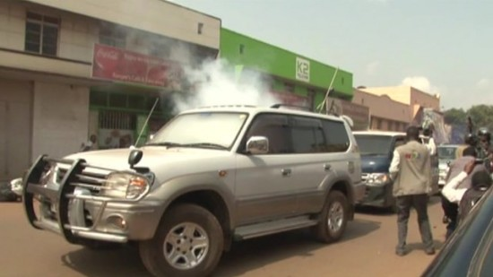 Opposition Leader Tear Gassed