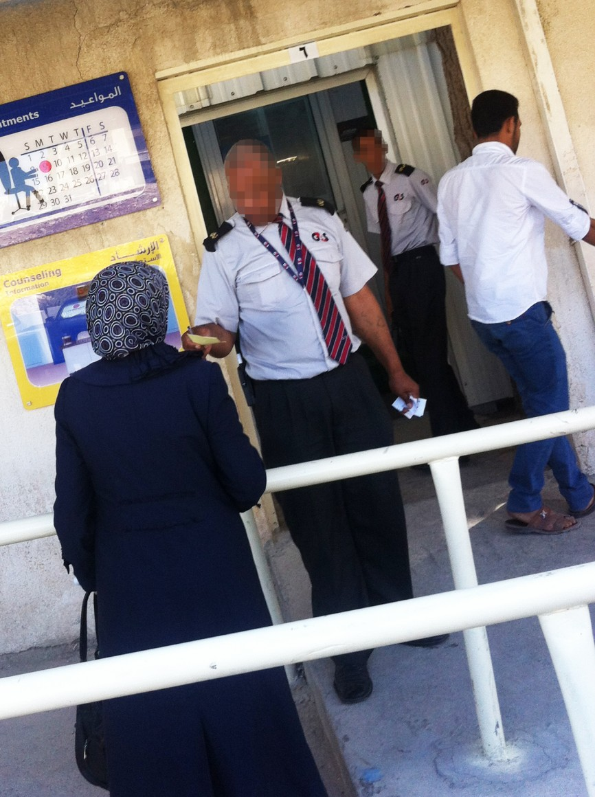 G4S guards in Amman, Jordan at UNHCR location