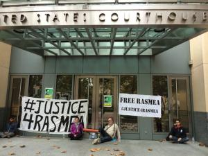 Oakland Activists Lockdown U.S. Fed Court to #FreeRasmeaNow