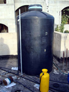 The water tank Abed had gone to check on. [photo December 2008]