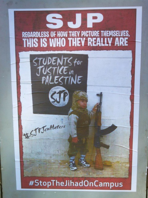 Anti-SJP Poster. Photo by Aram Googasian