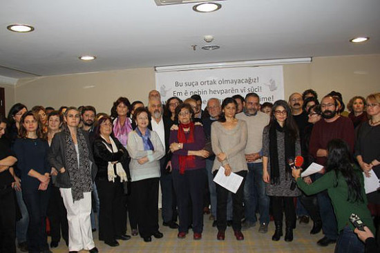 Academics For Peace at a press conference. Photo by DIHA